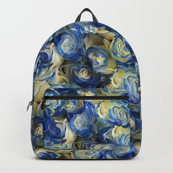 Danube Sparkling Roses Backpacks by Deluxephotos