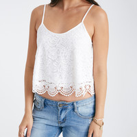 Crochet Cropped Cami With Scalloped Trim | Wet Seal