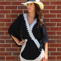 All Laced Up Romper - Black