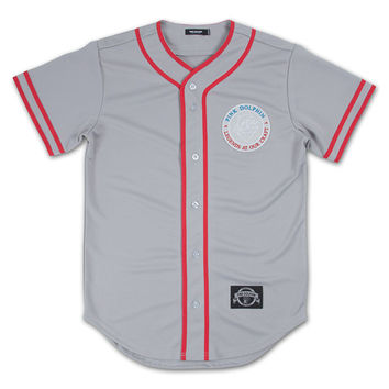 Gradient Seal Baseball Jersey in Heather Grey – Pink+Dolphin