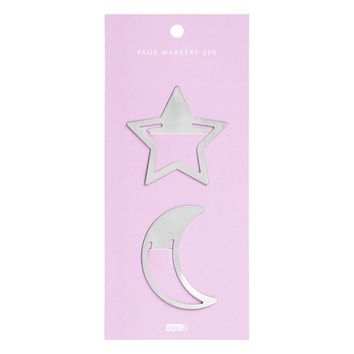 METAL PAGE MARKERS 2PK: LUCKY STARS