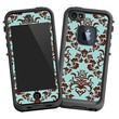 """Classic Brown and Blue Damask """"Protective Decal Skin"""" for LifeProof fre iPhone 5/5s Case"""