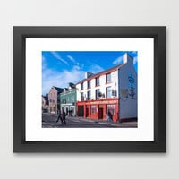 On The Streets Of Sunny Dingle - Ireland Framed Art Print by Mark E Tisdale