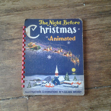 1949 The Night Before Christmas Animated, Julian Wehr, FN-.  Duenewald Printing Corporation