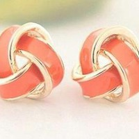 Gold Orange Earrings