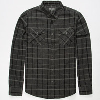 Retrofit Flint Mens Flannel Shirt Charcoal  In Sizes