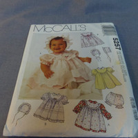 Baby Dress, Pinafore, Panty and Bonnet, Uncut Pattern, Size NB to Medium, McCalls 5257