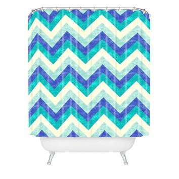 Jacqueline Maldonado Chevron Ocean Shower Curtain