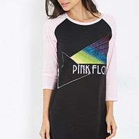 FOREVER 21 Pink Floyd Nightdress Black/Pink