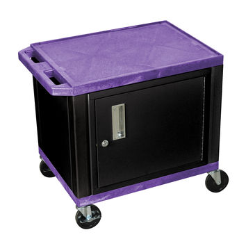 H.Wilson Mobile Multipurpose Storage Tuffy Utility Cart Lockable Cabinet No Electric Purple Black Legs