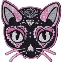 MISS CHERRY MARTINI PINK CAT PATCH