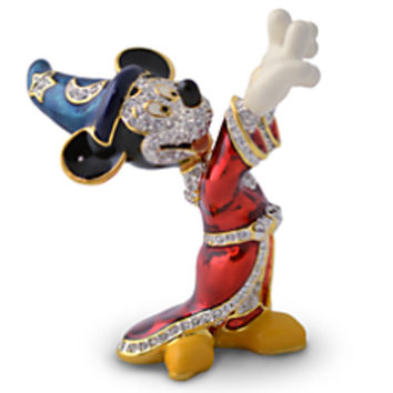 Disney Parks Mickey Mouse Sorcerer Jeweled Figurine by Arribas Brothers New with Box