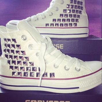 CREYONB Custom Converse Studded High Tops - Chuck Taylors - ALL SIZES & COLORS available!