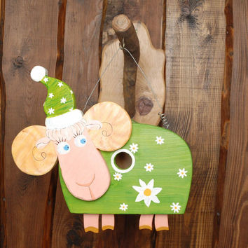 Handmade nest box eco friendly home decoration original present sheep gift