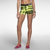 "Nike 3"" Pro Core Compression Printed Women's Shorts - Volt"