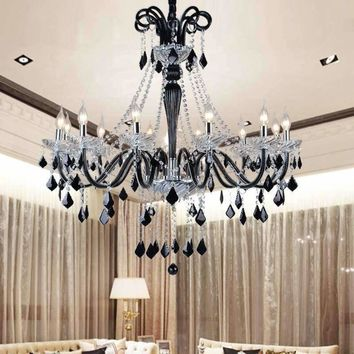 Modern Luxury LED Crystal Chandelier Ceiling Lustre de Crystal  ball Pendant Hanging Lamp Home Kitchen Lighting Fixtures