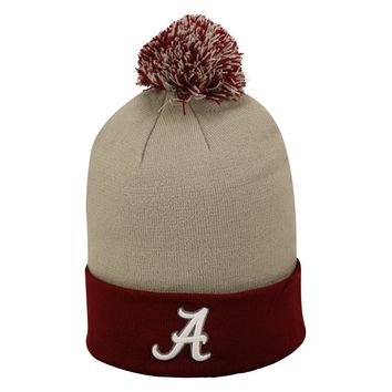Licensed NCAA Pom Cuffed Knit Two Tone Beanie Stocking Hat KO_19_1
