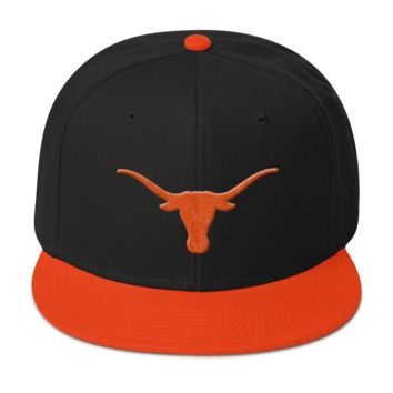 Texas Longhorns: Snapback Hat with 3D Puff Logo
