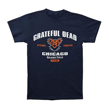 Grateful Dead Men's  Chicago '95 T-shirt Blue Rockabilia