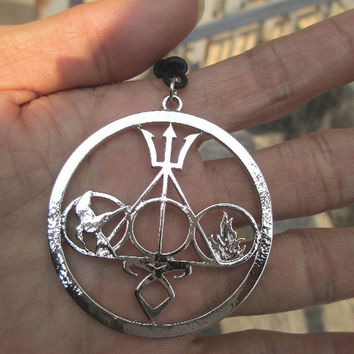 ULTIMATE FAN COMBO Necklace Harry Potter jewelry, The Mortal Instruments, Divergent and Percy Jackson silver