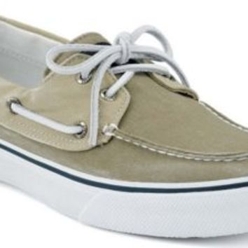 Sperry Top-Sider Bahama 2-Eye Boat Shoe KhakiOyster, Size 9M  Men's Shoes