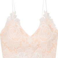 Rime Arodaky - Lalie lace and crepe bustier top