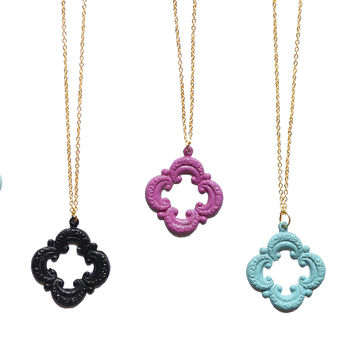 Signature Designer Quartrefoil Statement Necklace-Choose your color!