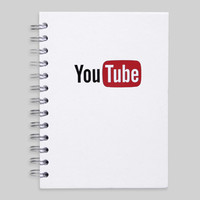 YouTube Recycled Spiral Journal