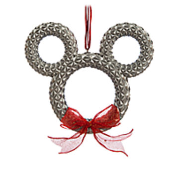 Mickey Mouse Icon Wreath Ornament - Spaceship Earth - Epcot