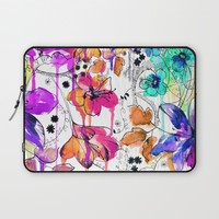 Lost in Botanica Laptop Sleeve by Holly Sharpe