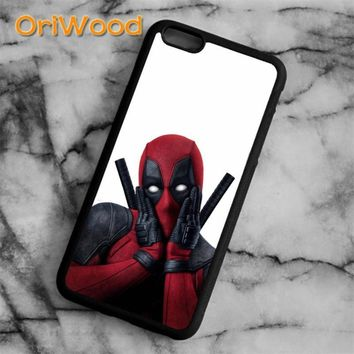 Deadpool Dead pool Taco OriWood Super Cool Marvel Hero   Case cover For iPhone 6 6S 7 8 Plus X 5 5S SE Samsung galaxy S6 S7 edge S8 Plus Note 8 AT_70_6