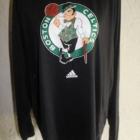 Collectible ADIDAS Long Sleeve BOSTON CELTICS Shirt With Team Logo Size Large
