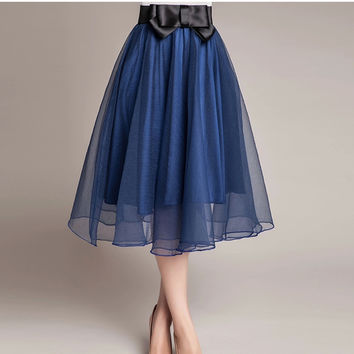 Hot sale 2016 trend Summer Style Skirts bust Tulle Skirt Chiffon High Waist Tutu Skirts womens Mini Skirt Saias Femininas