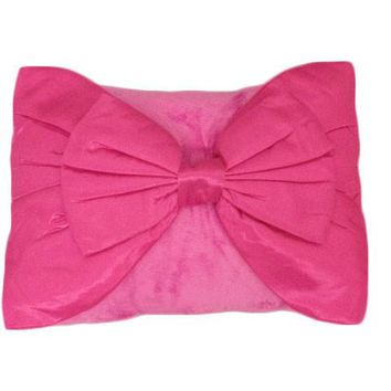 Bow Tie Throw Pillow | 14 x 20 inches (Set of 1) (Pink)