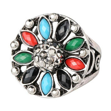 Unique Best Gift New Hot Women Vintage Retro Old Silver Ring Womens Fashion Casual Jewelry Rings-26
