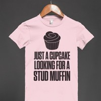 Just A Cupcake-Female Light Pink T-Shirt