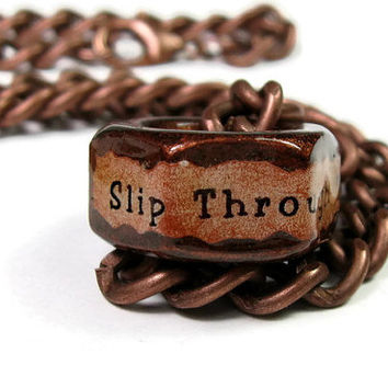 Mens Accessories, Antiqued Copper Vintage Style Industrial Chic Hex Nut Necklace, Gifts for Him, Humorous Gifts for Men, Funny Jewelry