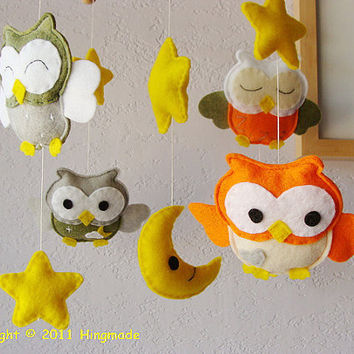 Baby Mobile Nursery Mobile Hanging Mobile Baby Crib by hingmade