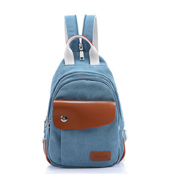 Comfort Back To School On Sale Hot Deal Casual College Stylish Fashion Mini Canvas Backpack [6304977092]
