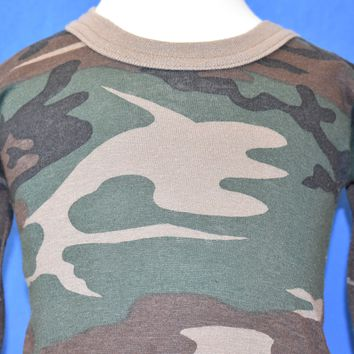 80s Camouflage Long Sleeve Baby t-shirt 12-18 Months