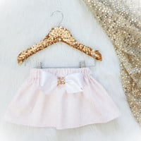 Soft Pink Gold Polka Dot SPARKLE Skirt