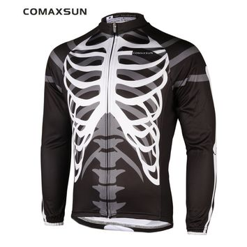 COMAXSUN Men's Long Sleeve Cycling Jersey Shirts Only EOCLJ06 Skeleton
