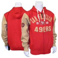 "NFL Full Zip ""Vintage Look"" Hoodie - San Francisco 49ers - Large"