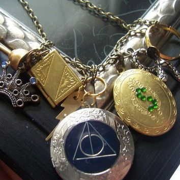 Harry Potter Horcrux  jewelry Locket necklaceALL 7 by TheMeltonPot