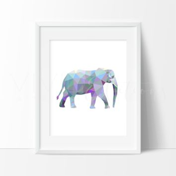 Geometric Low Poly Elephant
