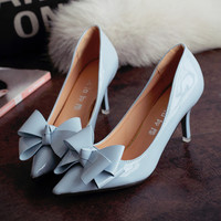 Womens Cool Ribbon Kitten Heels