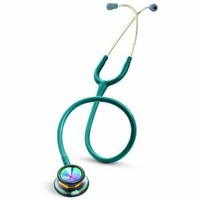 3M Littmann Classic II S.E. Stethoscope, Rainbow-Finish Chestpiece, Caribbean Blue Tube, 28 inch, 2823