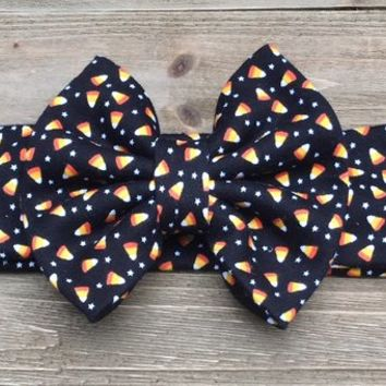 Candy Corn Headband- Candy Corn Bow; Candy Corn Headwrap; Candy Corn; Halloween Headband; Halloween Bow; Halloween Headwrap; Baby Headband