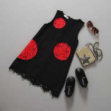 Cute Little Girls Comfy Lace Dress Fashion Slim Fit Fashion Chic Stylish Casual Color Blocking Dresses
