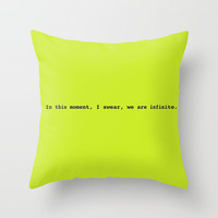 We are infinite Throw Pillow by fyyff